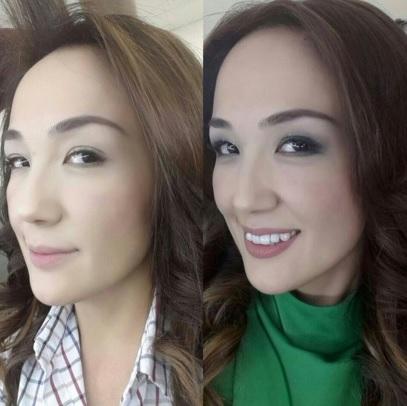 哈萨克斯坦女明星们的素颜照(组图)
