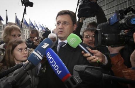 Ресейдің энергетика министрі Александр Новак газ келіссөздері қарсаңында. Брюссель, 29 қазан 2014 жыл.