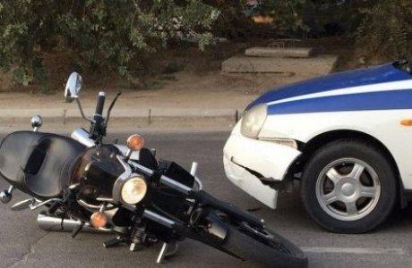 Ақтау полицейлері мотоциклшіні соғып тоқтатты